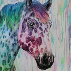 horse Painting Colourful