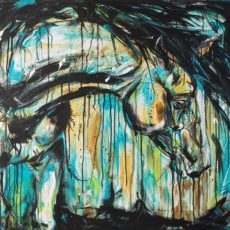 Drippy horse painting