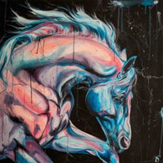 Electric horse painting