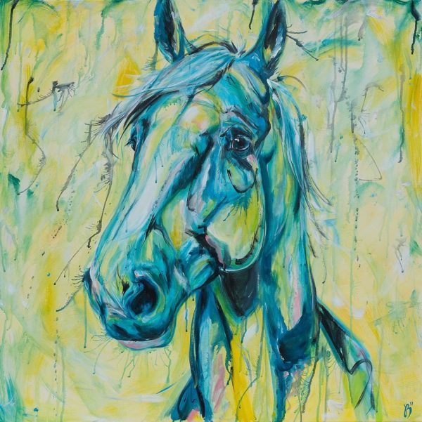 sunshine horse yellow horse art